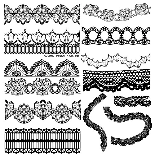 Grace lace pattern vector material