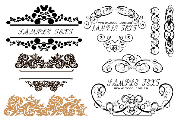 Practical fashion exquisite lace pattern vector material