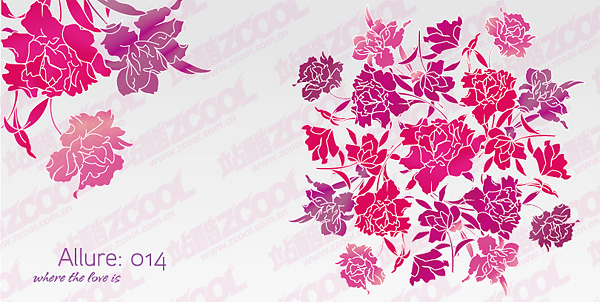 Simple and beautiful flowers vector material
