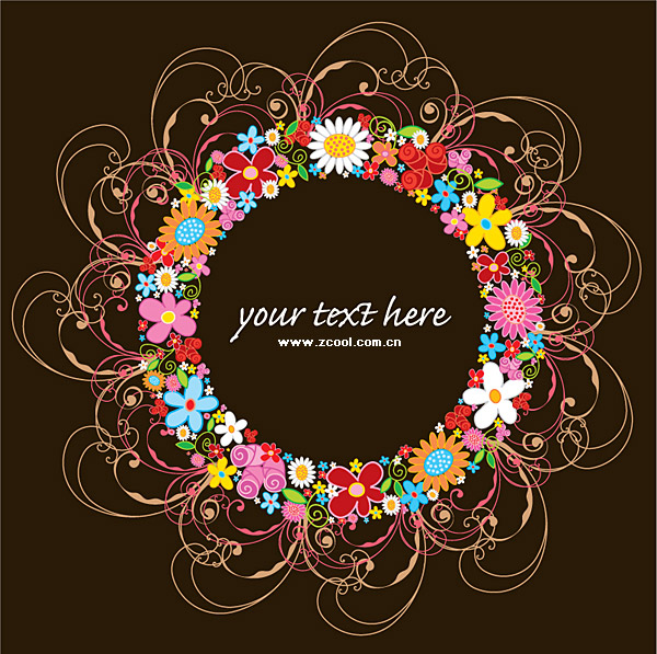Lovely rosette trend vector