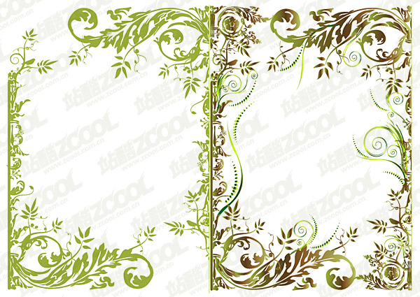 Fashion pattern vector border material