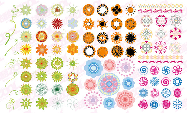 More than a circular pattern vector material fashion