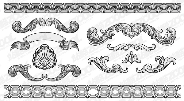 Continental lace pattern vector material