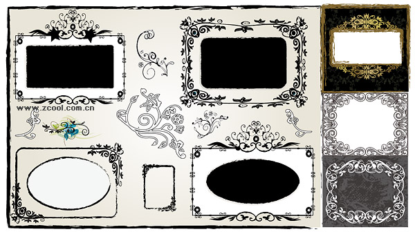 Beautiful lace material useful vector