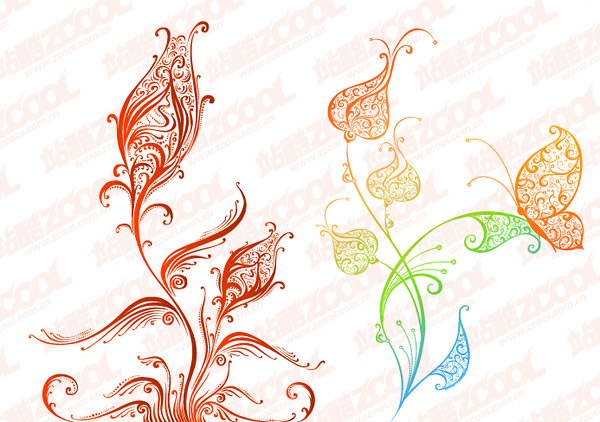 beautiful pattern vector material