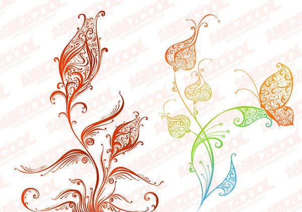 beautiful pattern vector material