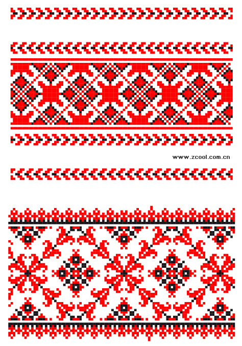 Pixel vector lace material