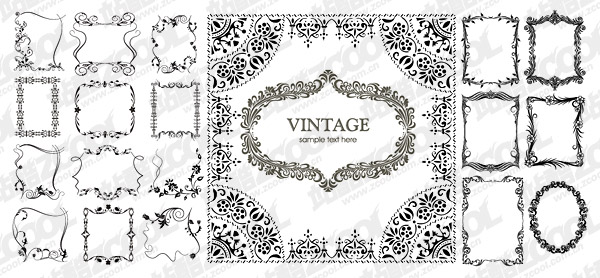 Vector number of beautiful and practical material lace