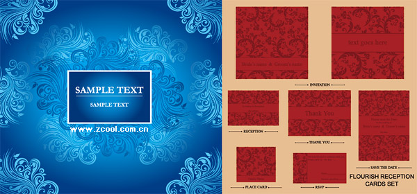 exquisite floral pattern vector material