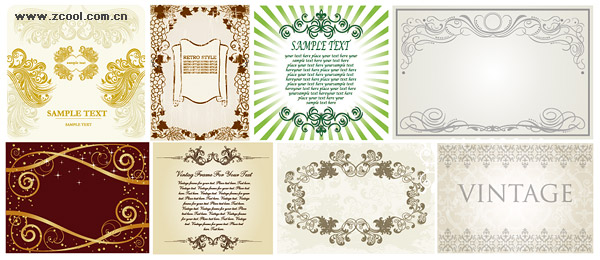 practical lace pattern vector material
