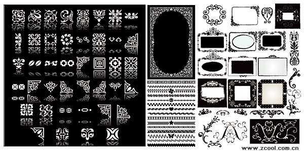 practical lace Vector material