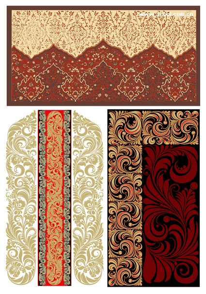 Continental practical pattern vector material