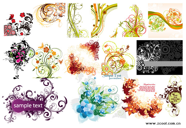 Exquisite fashion pattern vector material package-1