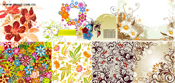 Exquisite fashion pattern vector material package-2