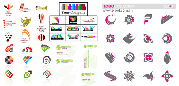 LOGO simple template vector material