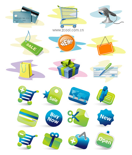 2 sets of icons to vector material