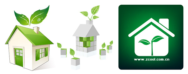 Green house icon vector material