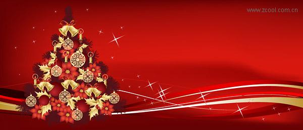 Christmas tree theme vector material