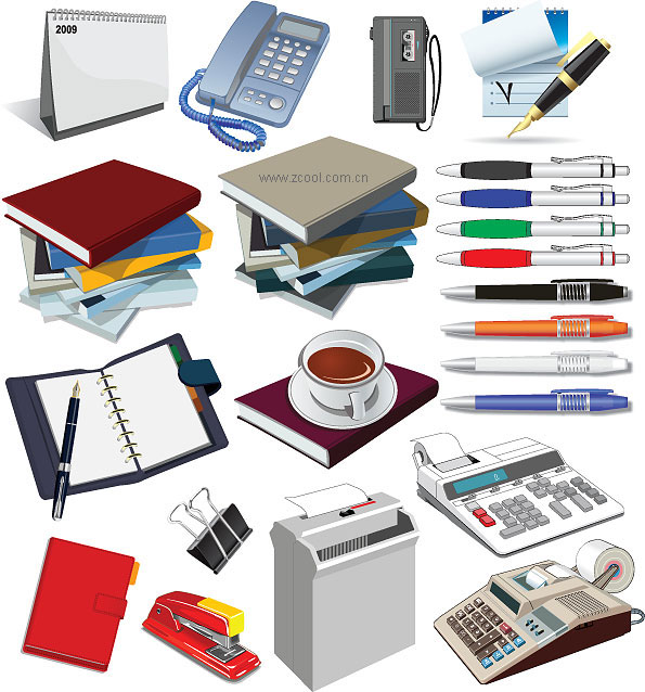 Office supplies vector material