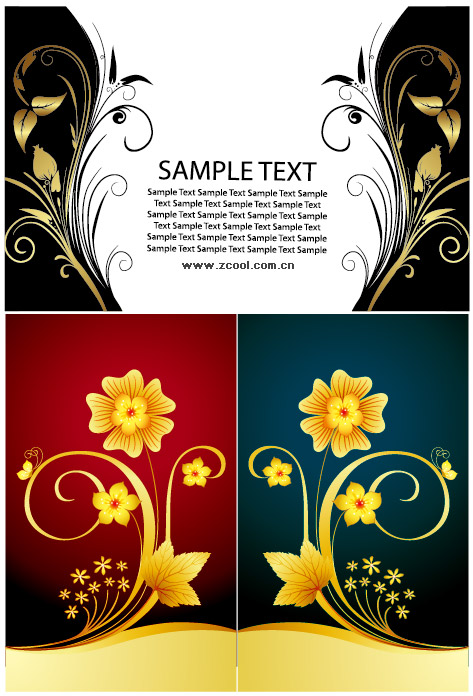 symmetrical design pattern vector material