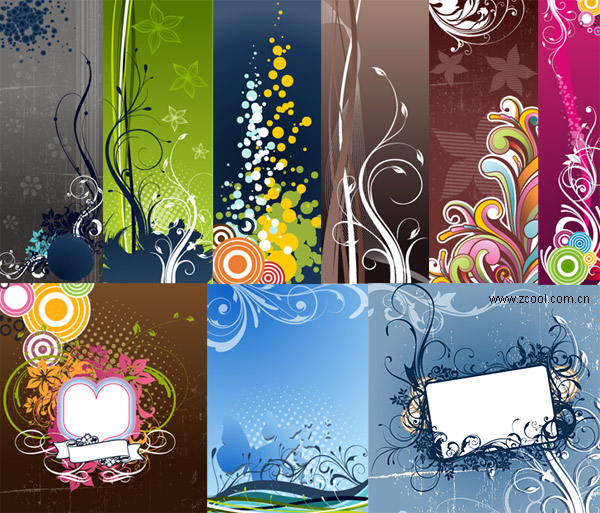 Variety of practical fashion trend of the background pattern vector material