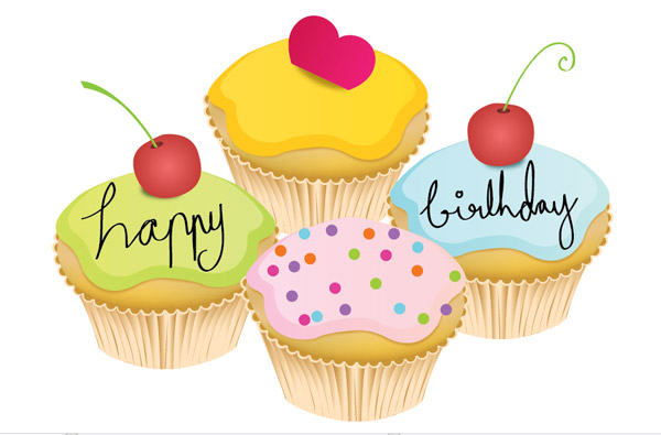 Small birthday cake Vector