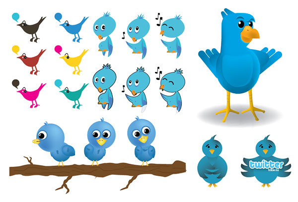 Twitter vector image material