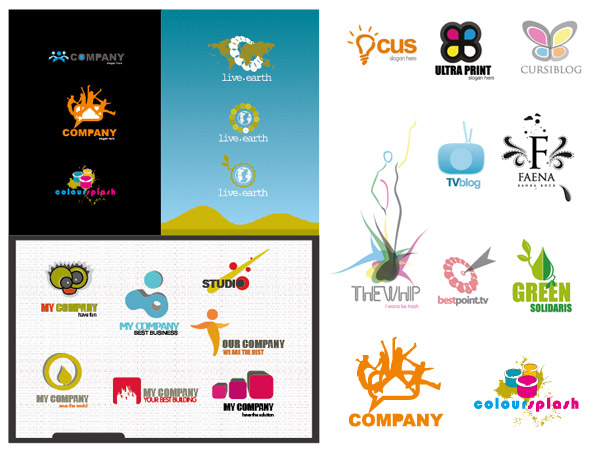 Variety of vector logo template material