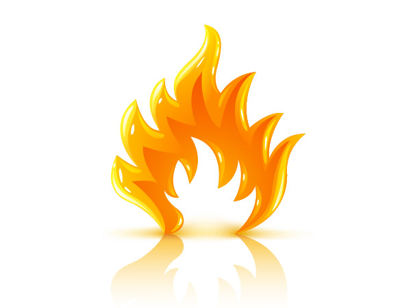 Three-dimensional flame vector material