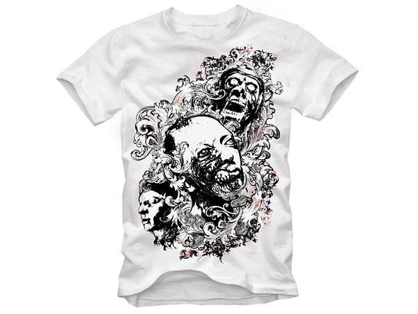 t-shirt design Vector material