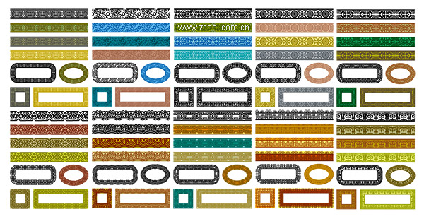 Variety of classical material lace series vector-1