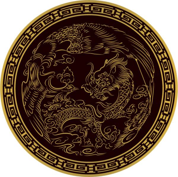 Dragon Vector classical circular material