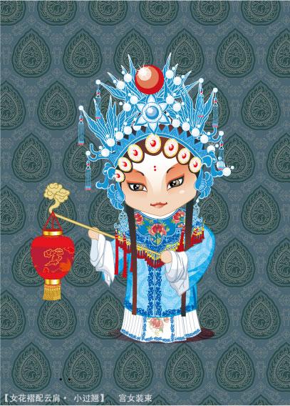 Peking Opera characters (odalisque image) vector material