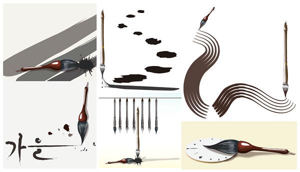 Brush series vector material