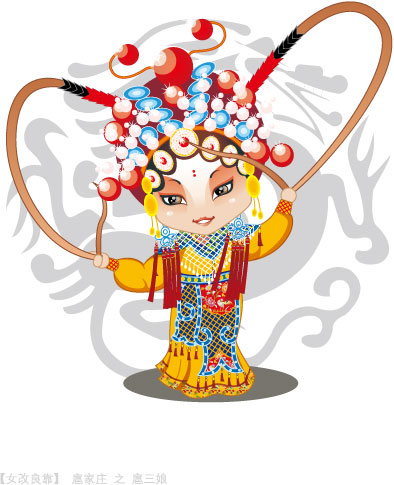 Q version of Peking Opera characters-4