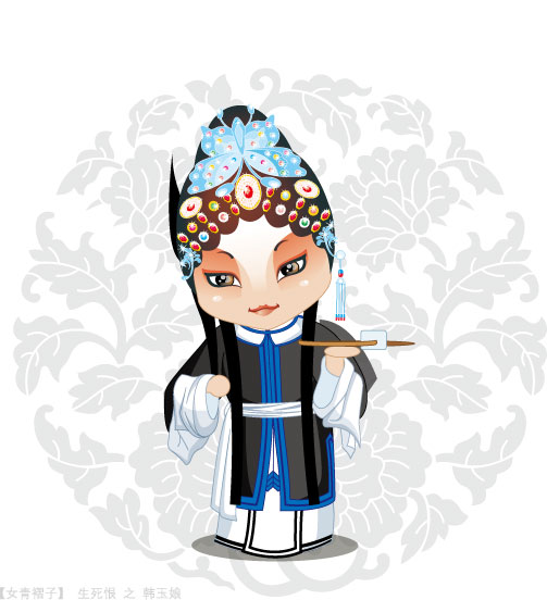 Q version of Peking Opera characters-5