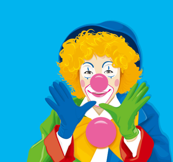 Clown color material feature vector