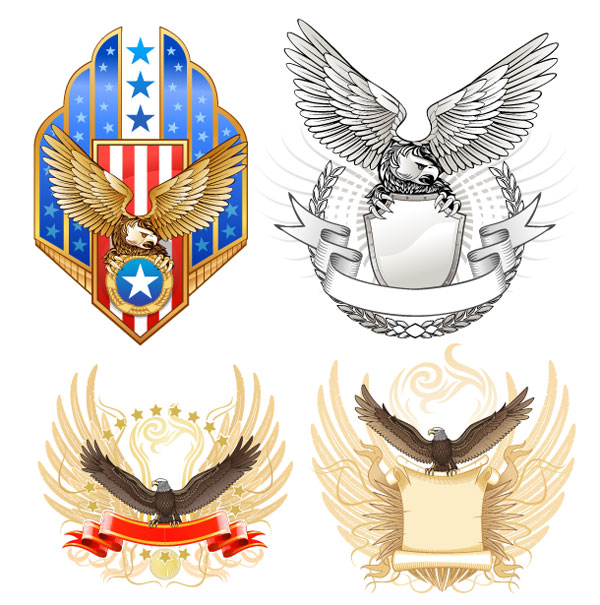 Eagle Shield Vector material