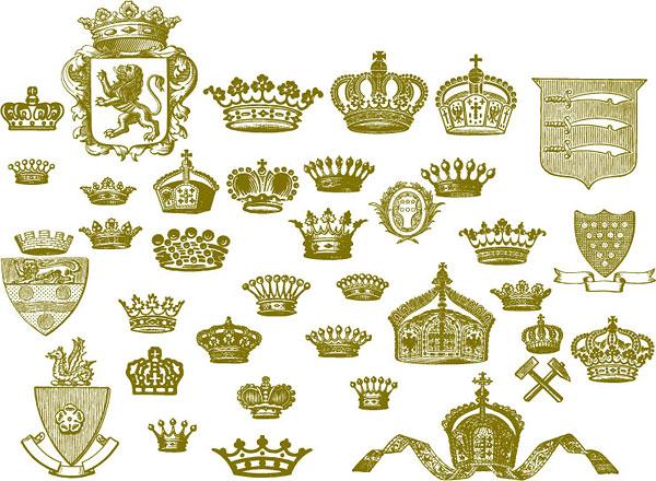 Crown, lion, hammer, Royal vector material