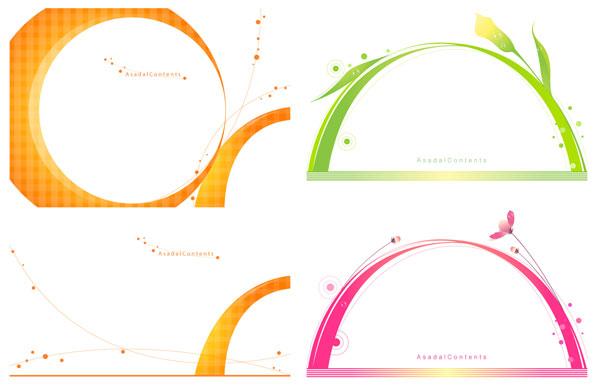 Flower Lines Vector