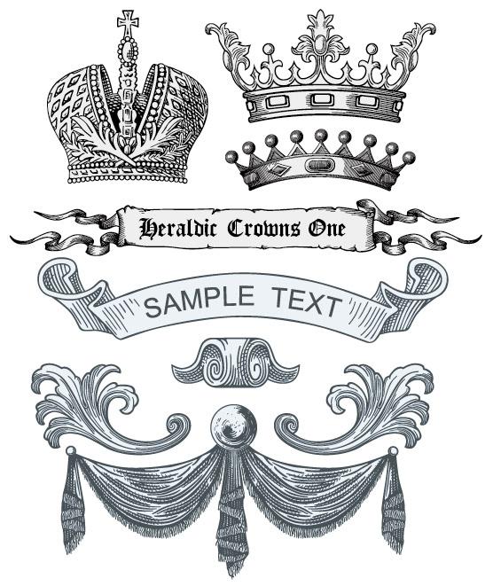 European royal element vector