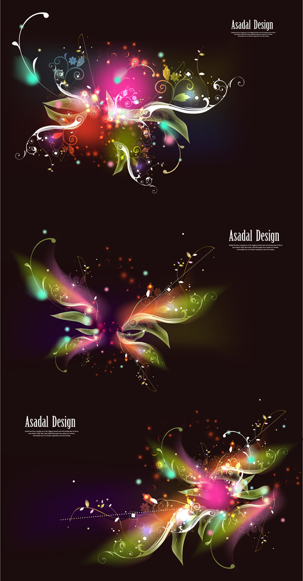 Butterfly pattern vector glare