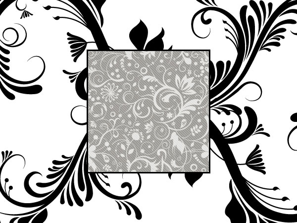 Black and White Fashion Pattern Vector