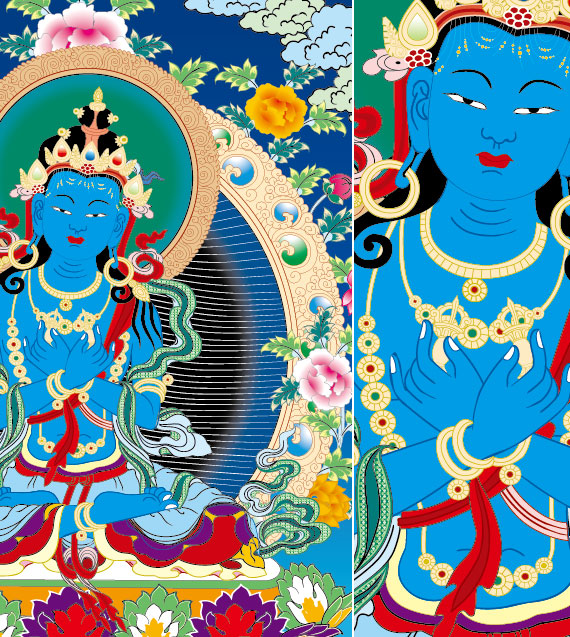 Religion Dunhuang murals vector