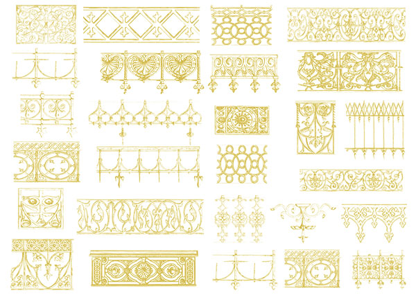 European-style lace Vector material