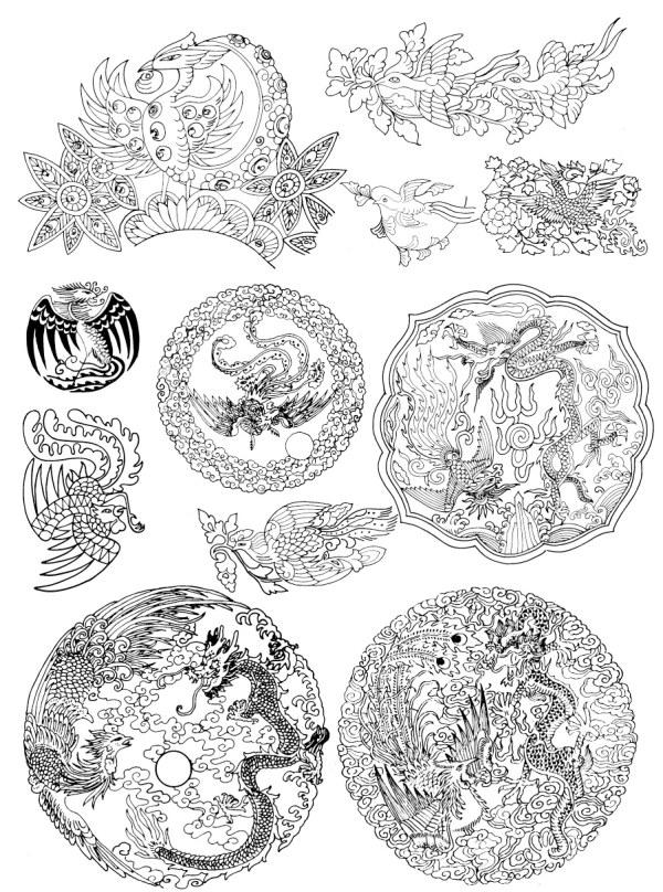 Phoenix pattern vector case -5