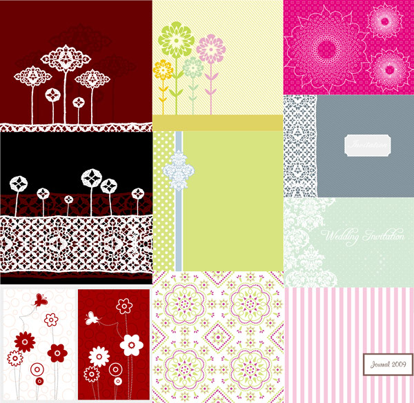 Simple lovely pattern vector