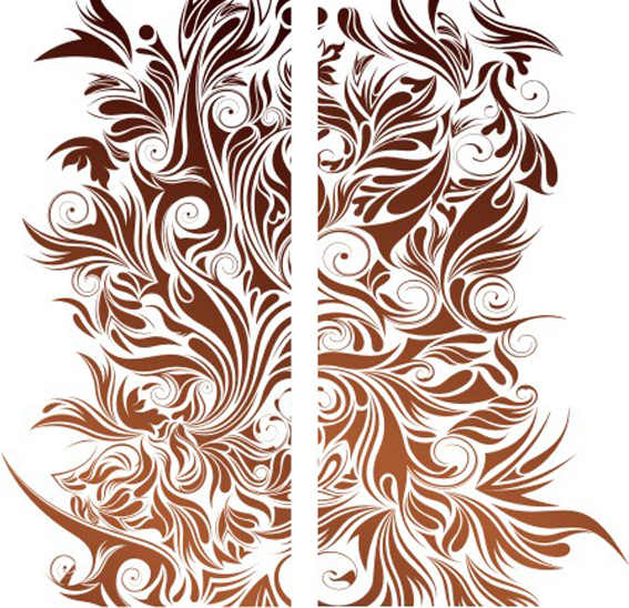 Blooming pattern vector