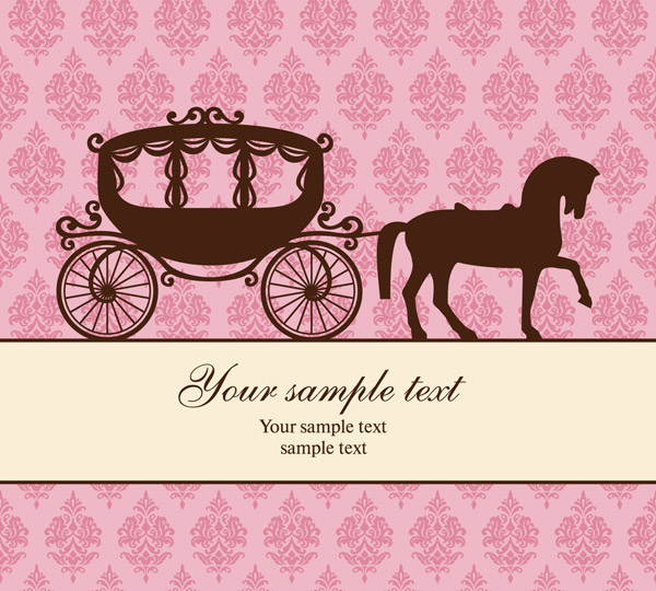 Carriage pattern vector