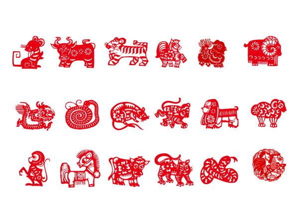 Paper-cut animal